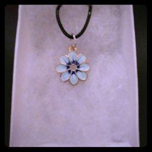 Jewelry - Blue Sunflower Necklace